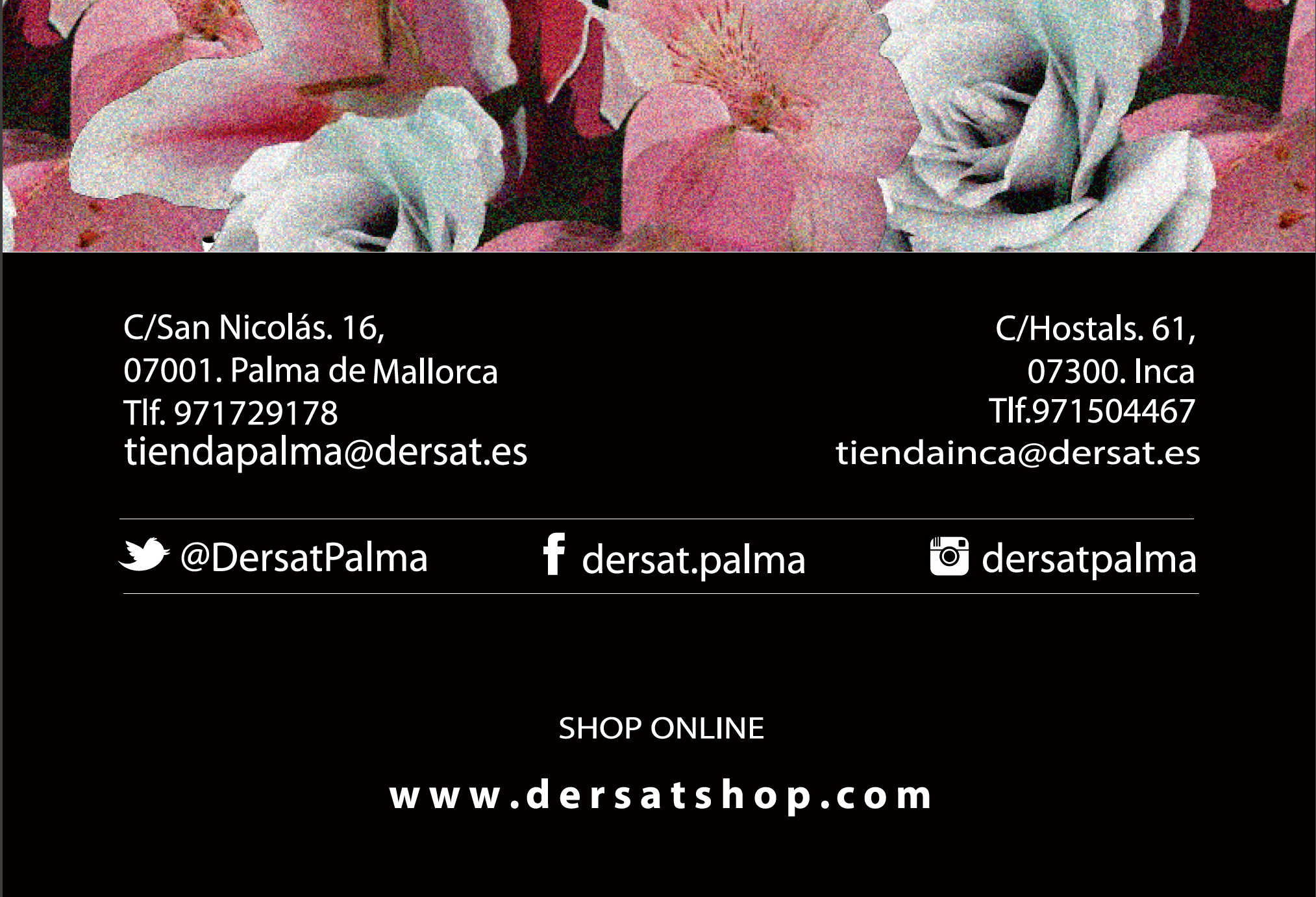 Amparo collazo business cards newsletters for clothing store business cards newsletters for dersat a clothing store from mallorca reheart Gallery